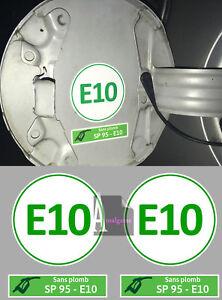 Automobilia Badges, Insignes, Mascottes Set De 2 X Carburant Sp95 Sans Plomb E10 Autocollant Sticker Taille 5cm