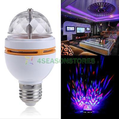 E27 3W Colorful RGB LED Rotating Stage Disco Crystal LED Bulb Lamp Light 85-260V
