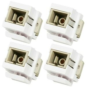 4x SC Optical Fiber Optic Network Snap-in Jack Insert for Keystone Wall Plate