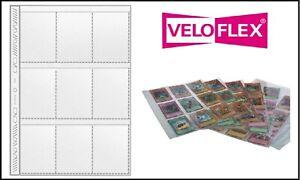 10 Veloflex a4 sammelhüllen tarjetas fundas 140my 9x a8 97x67 mm para trading cards
