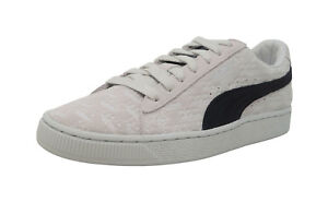 PUMA-50-Suede-Classic-X-Panini-Lt-Gray-Black-Lace-Up-Fashion-Sneakers-Men-Shoes