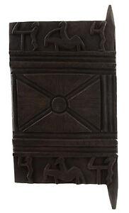 Porta Di Attico Baoulé 75 X 38 CM Arte Africano 1072 Gar