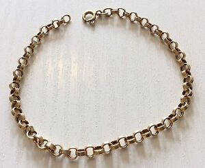 Lovely-Ladies-Hallmarked-Vintage-9ct-Gold-Fancy-Circular-Link-Bracelet-Nice
