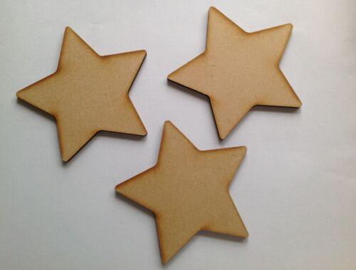 X 10 Étoiles en bois 10 cm Blank Craft Formes