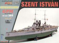 Battleship Szent Istvan card paper model 1:200 big 76cm