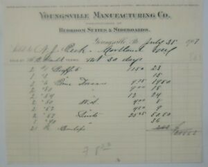 1907-Letterhead-Pennsylvania-Youngsville-Manufacturing-Company-Bedroom-Suites