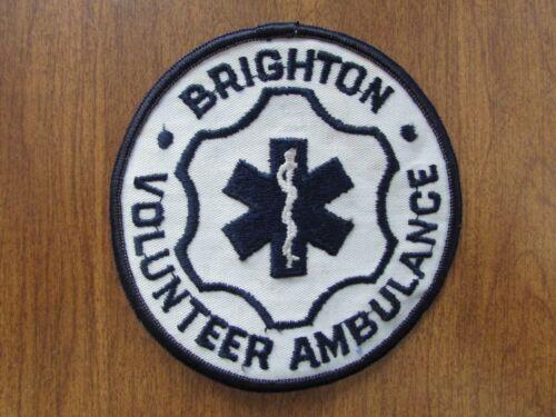 PATCH BRIGHTON VOLUNTEER AMBULANCE POLICE FIRE EMT