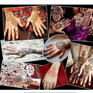 Details About 1pcs Diy India Henna Temporary Tattoo Stencils Hand Foot Body Art Sticker Cool