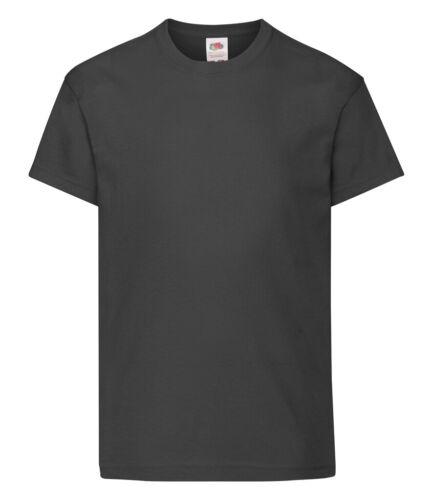 Fruit of the Loom Enfants Garçons Filles Uni Cotton T-Shirt