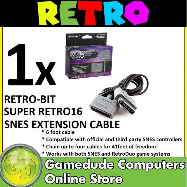 Retro-bit Super Retro16 SNES Joypad Extension Cable 6FT RB-SNES-1736 [F03]