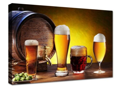 Quadro moderno cm 100x70 Quadri Moderni Stampa su tela Canvas XXL Birra Arte Bar