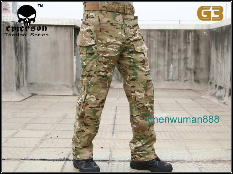 EMERSON TACTICAL GEN2  COMBAT PANTS MILITARY AIRSOFT BDU TROUSERS KNEE PADS CAMO  leisure