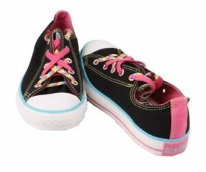 Converse-Chuck-Taylor-Kriss-Kross-Youth-Girls-Black-Oxford-Sneakers-size-6