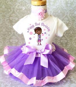 b8d6f5504 Animal Doctor Doc McStuffins 2nd Birthday Shirt Tutu Girl Outfit Set ...
