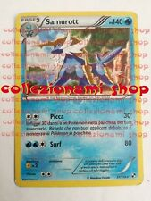 SAMUROTT - RARA HOLO FOIL 31/114 - BIANCO E NERO - POKEMON - ITALIANO - GOOD