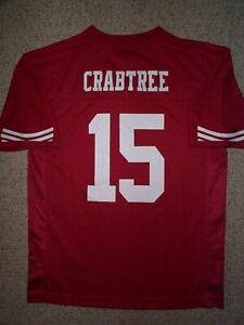 Details about ($55) San Francisco 49ers MICHAEL CRABTREE nfl Jersey YOUTH KIDS BOYS (L-LARGE)