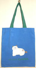 New 100% Cotton Girls Tote Bag Holdall Party Handbag Shopping Blue Green