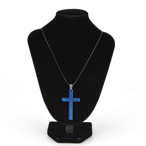Men Cross Pendant Necklace Stainless Steel Link Chain Statement Jewelry  Pg
