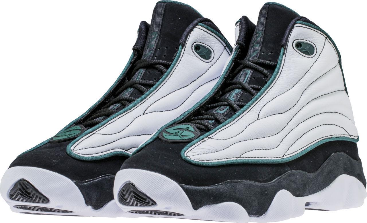 Men's Air Jordan Pro Strong White Black Green Sizes 8-13 NIB 407285-020