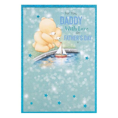 Daddy Cute Forever Friends Father/'s Day /'With Love/' Hallmark New Card Medium