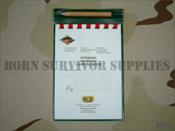 BCB British Army A6 WATERPROOF Notebook Notepad & Pencil NATO Issue Paper Pad