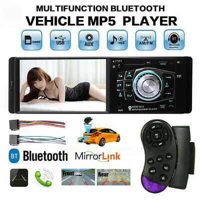 "Multifunction 4.1/"" Bluetooth Car MP5 MP3 USB Player Camera with Remote Control"