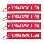 5x Remove Before Flight Key Chain Luggage Tag Zipper Woven Keychain Embroidery