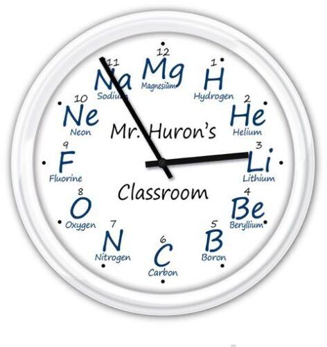 Chimie Personnalisé Horloge murale-Labo de Science Teacher Professeur-Cadeau