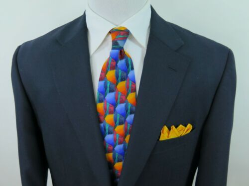 Dark Buttons Stafford Coat R Gold Wool Blend Blue Jacket 42 Blazer Euc Sport 1qwwEC6Bc4