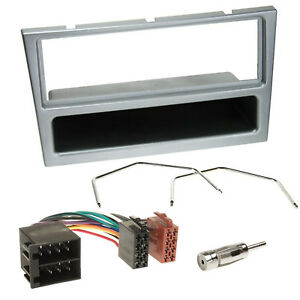 Vauxhall-Vectra-Silver-Car-Stereo-Radio-Fascia-Facia-Adaptor-Wiring-Fitting-KIT