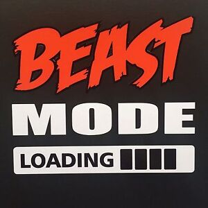 Image Is Loading Crossfit Car Sticker Beast Mode 10cm Ipad