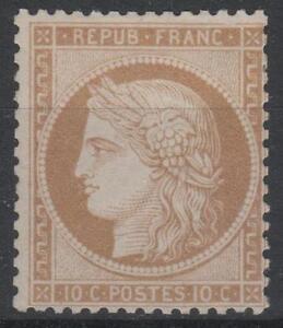 FRANCE-STAMP-TIMBRE-N-36-a-034-CERES-10c-BISTRE-BRUN-1870-034-NEUF-x-TTB-K578
