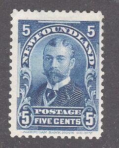NEWFOUNDLAND STAMP #85 --- 5c DUKE OF YORK -- 1899 -- UNUSED