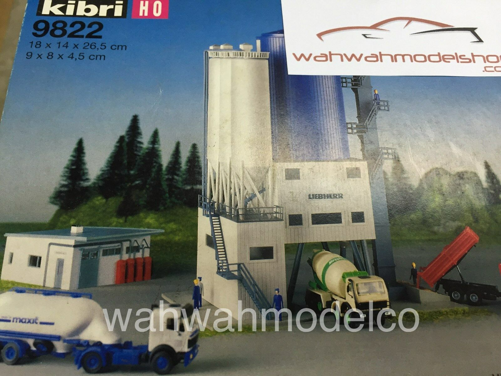 Kibri 9822 Betonwerk Bausatz / unbebaut / OVP / H0