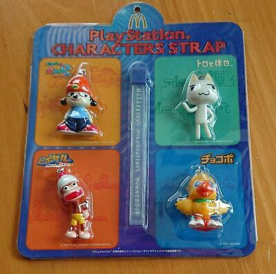 Playstation Characters Strap PaRappa the Rapper Chocobo McDonald Japan F//S New