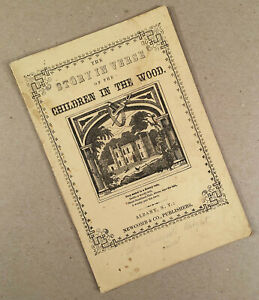 Albany-NY-c-1855-60-Newcomb-amp-Co-CHILDREN-IN-THE-WOOD-Illustrated-Chapbook