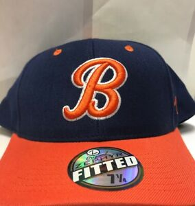 Zephyr-Chicago-Bears-Navy-Orange-Fitted-Hat-7-1-4-New