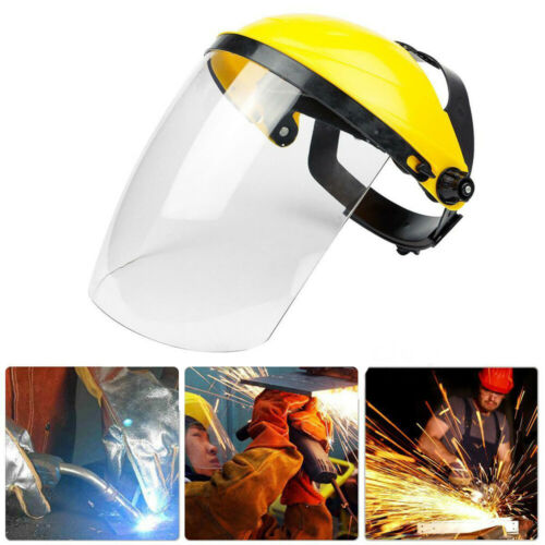 Safety Protective Clear Head-mounted Full Face Eye Shield Screen Grinding B1US