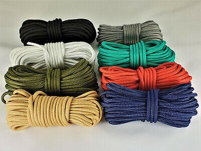5 m PP Seile Leinen  Seil Schnur Reepschnur 3 mm 8-Fach geflochten Rot 0,20€//m