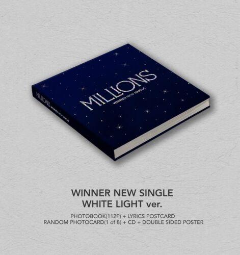 WHITE LIGHT ver. WINNER MILLIONS CD+Photocard+Double-Side Poster+Free Gift