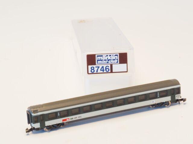 8746 MARKLIN Z -scale SBB 2nd class Express Train Passenger Car
