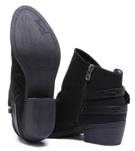 Blowfish Sistee Womens Versatile Cowboy Ankle Boots In Black Sizes UK 3-8