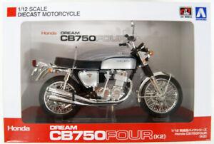 Aoshima-Skynet-06587-Honda-CB750FOUR-K2-Silver-1-12-Scale-Finished-Model