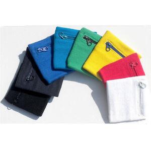 Wrist-Sweatband-Athletic-Travel-Zipper-Pocket-Wallet-Armband-Sports-Wristband
