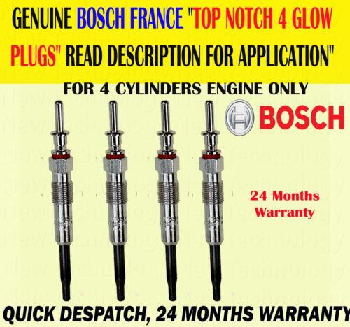 Genuino Bosch Para BMW Serie 1//5 118D 120D 520D X3 2.0D Bujía Tapones X4