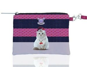 Teo-Jasmine-Wristlet-Make-up-Cosmetic-Bag-Purse-Cat-Lovers-Gifts-Rockabilly-50s