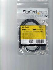 STARTECH.COM USB2HABM3RA 3FT USB2HABM3RA USB A TO RIGHT angle USB mini