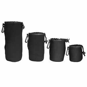 4Pcs-Neoprene-DSLR-Camera-Lens-Soft-Protector-Pouch-Bag-Case-Set-S-M-L-XL