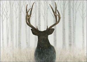 James wiens into the forest keilrahmen bild leinwand wald - Hirsch bild leinwand ...