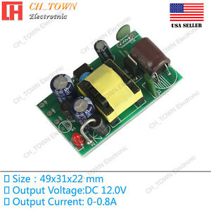 Details about AC-DC 12V 0 8A 10W Power Supply Buck Converter Step Down  Module High Quality USA